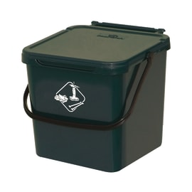Pattumiera manuale verde 7 L