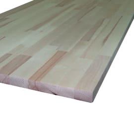 Piano di lavoro in legno faggio L 245 x H 2.8 cm