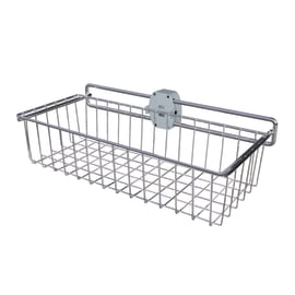 Cesto scorrevole L 43 x H 15 x P 23 cm grigio / argento