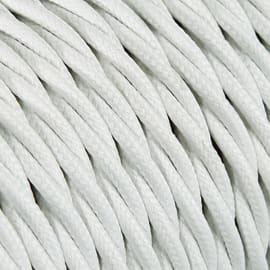 Cavo tessile MERLOTTI 3 fili x 0,75 mm² bianco 50 metri