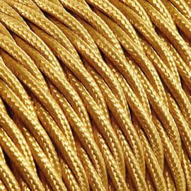 Cavo tessile MERLOTTI 3 fili x 0,75 mm² oro 50 metri