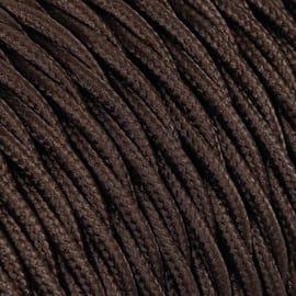 Cavo tessile MERLOTTI 3 fili x 1,5 mm² marrone 25 metri