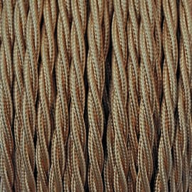 Cavo tessile MERLOTTI 3 fili x 2,5 mm² oro 50 metri
