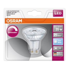 Lampadina LED GU10 riflettore bianco naturale 4W = 230LM (equiv 35W) 36° OSRAM