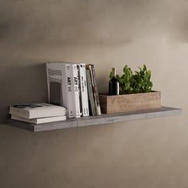 Mensola Pop L 60 x P 25 cm, Sp 2.5 cm grigio
