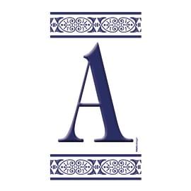 Lettera Greca A , 7.5 x 15 cm