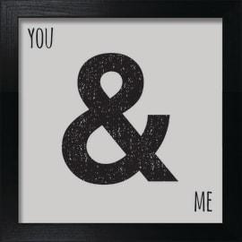 Stampa incorniciata You & Me 30x30 cm