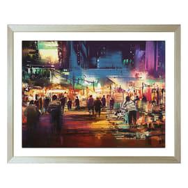 Poster Dipinto città 40x50 cm