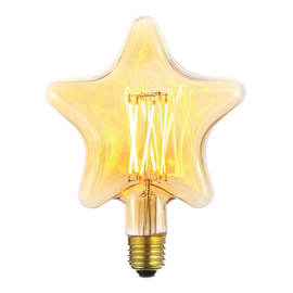Lampadina LED E27 varie forme decorative giallo 6W = 600LM (equiv 60W) 360°