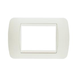 Placca BTICINO Living International 3 moduli total white
