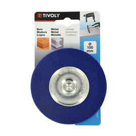 Spazzola per trapano TIVOLY in tela abrasiva Ø 100 mm