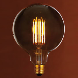 Lampadina decorativa LED Glo giallo E27 6W = 400LM (equiv 50W) 360°