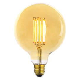 Lampadina decorativa LED Glo giallo E27 6W = 600LM (equiv 50W) 360°