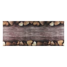 Tappeto Cucina antiscivolo Full cuori marrone 180x55 cm