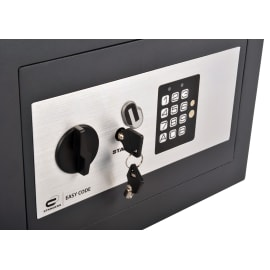Cassaforte con codice elettronico STANDERS Standers fissaggio a pavimento<multisep/>da fissare a parete 31 x 20 x 20 cm