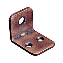Piastra angolare acciaio bronzato Sp 2 x H 21 mm  4 pezzi