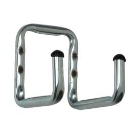 Gancio per garage a U doppio L 16 x H 18 cm acciaio zincato