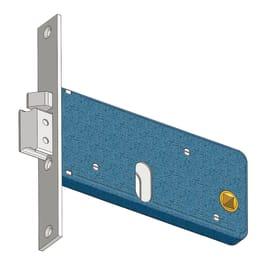 Serratura a incasso cilindro per cancello o rete, entrata 6 cm, interasse 60 mm, sinistra<multisep/>destra