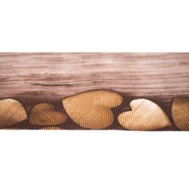Tappeto Cucina antiscivolo Full cuori marrone 75x55 cm