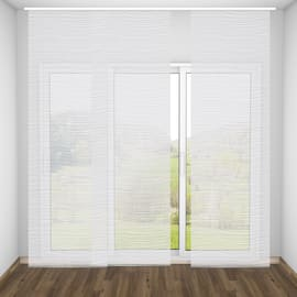 Pannello giapponese INSPIRE Mare linee orizzontali bianco 60x300 cm