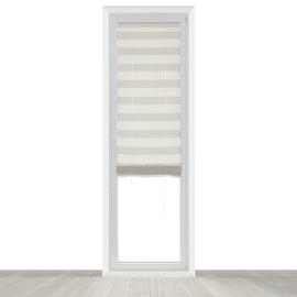 Tendina vetro Molly bianco e beige tunnel 58x235 cm