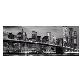 Quadro in vetro New York Black&White 125x50 cm