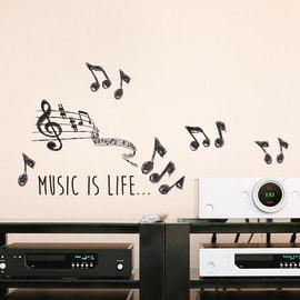 Sticker Music 15.5x34 cm