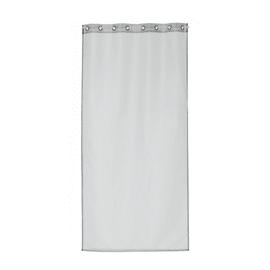 Tendina vetro Metal argento occhielli 80x160 cm
