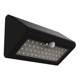 Applique a soffitto Solare 500lm con sensore di movimento LED integrato in plastica nero 5.5W 500LM IP44 YANTEC