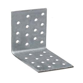 Piastra angolare acciaio zincato L 100 x Sp 2.5 x H 80 mm