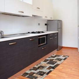 Tappeto Cucina antiscivolo Full nodo marrone 130x55 cm