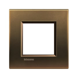 Placca BTICINO Living light 2 moduli bronzo opaco