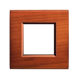 Placca BTICINO Living light 2 moduli ciliegio opaco