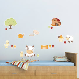 Sticker Baby farm 47.5x70 cm