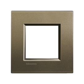 Placca BTICINO Living light 2 moduli square opaco