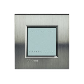 Placca BTICINO Living light 2 moduli tech opaco