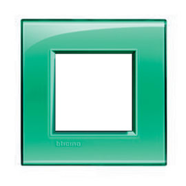 Placca BTICINO Living light 2 moduli verde opaco
