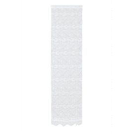 Tendina a vetro regolabile Cleopatra bianco tunnel 60x230 cm