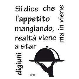 Sticker L'appetito 47.5x70 cm