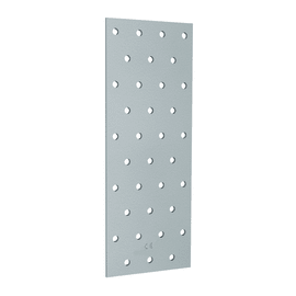 Piastra dritta in acciaio zincato L 300 x Sp 2 x H 75 mm