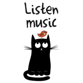 Sticker Listen to good music 15.5x34 cm