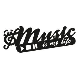 Sticker Music 60x22 cm