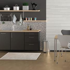 Tappeto Cucina Textilene sabbia argento e beige 80x50 cm