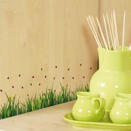 Sticker Ladybugs on grass 15x31 cm