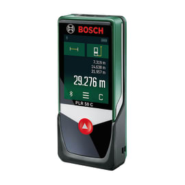 Misuratore laser classe 2 BOSCH PLR50C distanza max 50 m