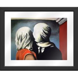 Quadro con cornice Magritte Amanti 45.5x55.5 cm