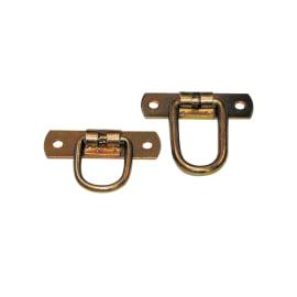 Cavallotto standers acciaio zincato L 65 x Sp 3 x H 20 mm