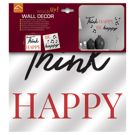 Sticker Think happy 31.5x34 cm