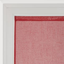 Tendina vetro Lina rosso tunnel 60x160 cm