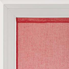 Tendina vetro Lina rosso tunnel 60x240 cm